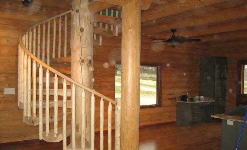 stairs in cabin