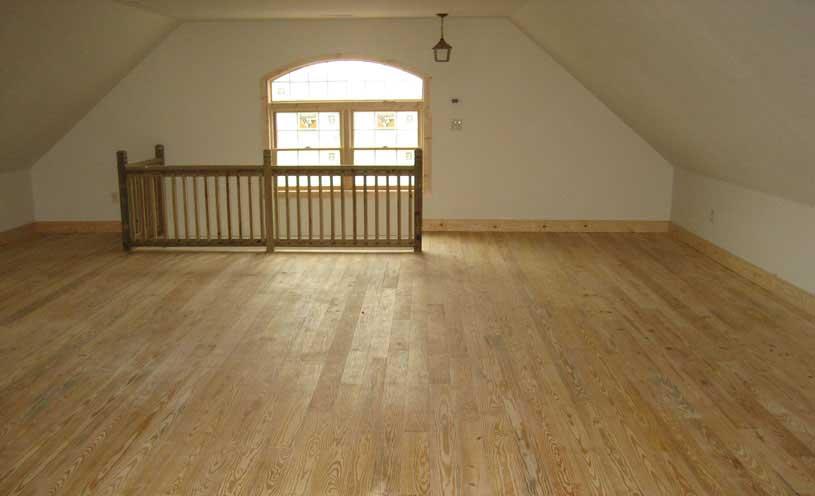 finished garage attic