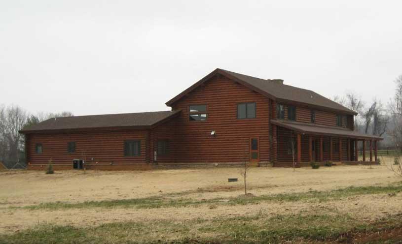 log cabin Loudoun